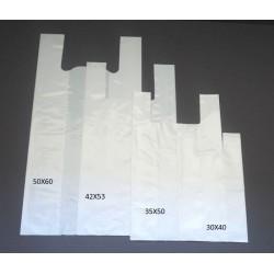 200 Bolsas de plastico asa camiseta 50x60