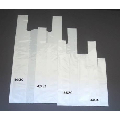 200 Bolsas de plastico asa camiseta 35X50