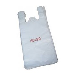100 Bolsas de plastico asa camiseta 80X90