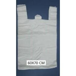 Bolsas de plástico asa camiseta 60X70