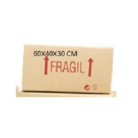caja de carton doble 60x40x30 cm.