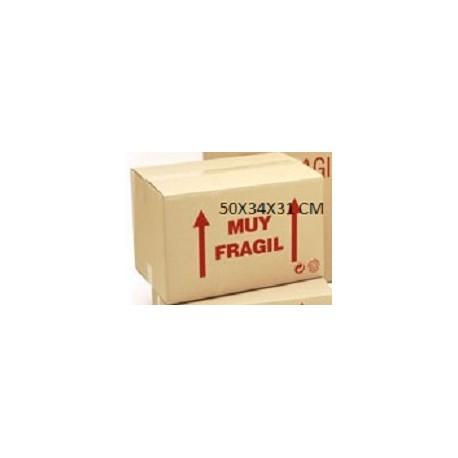 caja de carton doble 50x34x31 cm.