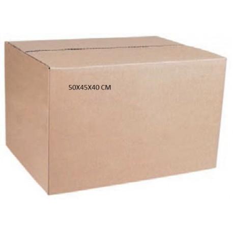 Caja carton doble 50x45x40 cm tienda embalajes for Cajas de plastico precio