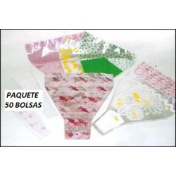 50 BOLSAS PARA RAMOS DE FLORES
