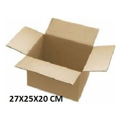 CAJA CARTON DOBLE 27X25X20
