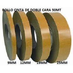 CINTA DOBLE ADHESIVO 50MT X 12MM