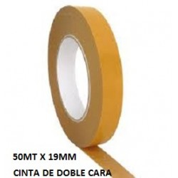 CINTA DOBLE ADHESIVO 50MT X 19MM