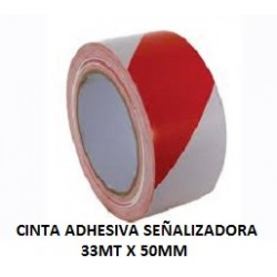 CINTA ADHESIVA SEÑALIZADORA 33MTX50MM BICOLOR B/R