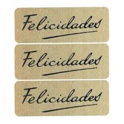 ROLLO 1000 ETIQUETAS FELICIDADES FIRMA