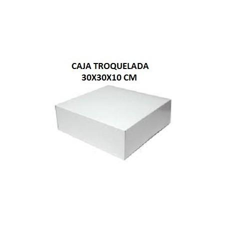 CAJA TROQUELADA 30X30X10 CM.