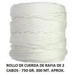 ROLLO CUERDA DE RAFIA 750GR. 2CABOS