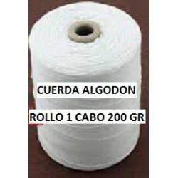 ROLLO CUERDA DE ALGODON 200GR.